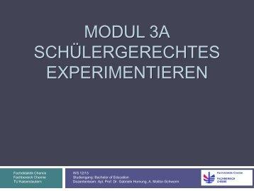 Darstellung bzw. Aufbau von Experimenten - Fachbereich Chemie