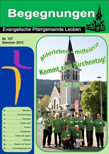 Begegnungen - Evangelische Pfarrgemeinde Leoben ...