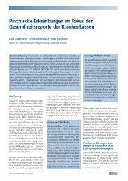 Psychische Erkrankungen im Fokus der Krankenkassen (pdf)