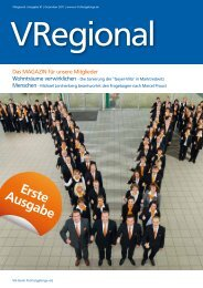 VRegional Nr. 1 - Dezember 2011 - VR-Bank Fichtelgebirge eG