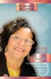 Carol Chandler Memorial Program