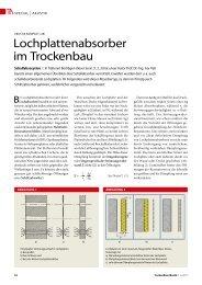 Lochplattenabsorber im Trockenbau - TrockenBau Akustik