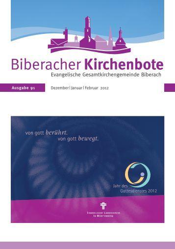 Weichenstellen - Evangelische Gesamtkirchengemeinde Biberach