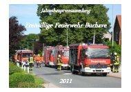Brandeinsatz - Feuerwehr Burhave