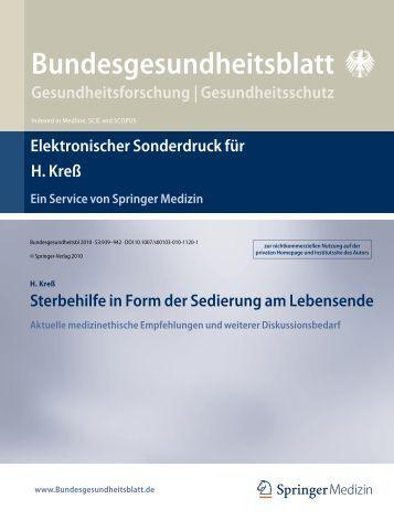 Bundesgesundheitsblatt Gesundheitsforschung - Universität Bonn