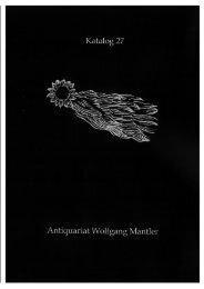 Katalog 27 - Buch- und Kunstantiquariat Wolfgang Mantler