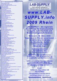 Fachvorträge LAB-SUPPLY 2009 Rhein, Mittwoch ... - infochroma.ch