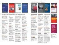 Geschichte, Kulturgeschichte, Zeitgeschichte - Verlag C. H. Beck oHG