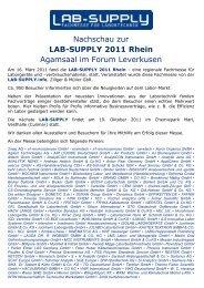LAB-SUPPLY 2011 Rhein