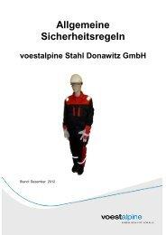 Allgemeine Sicherheitsregeln voestalpine Stahl Donawitz GmbH