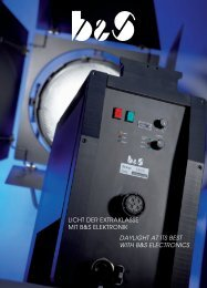 licht der extraklasse mit b&s elektronik daylight at its best with b&s ...