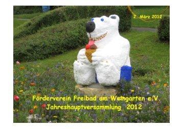 Förderverein Freibad am Weingarten e. V., Gärtringen