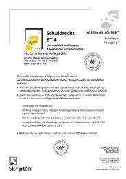 Schuldrecht BT 4 - Alpmann Schmidt