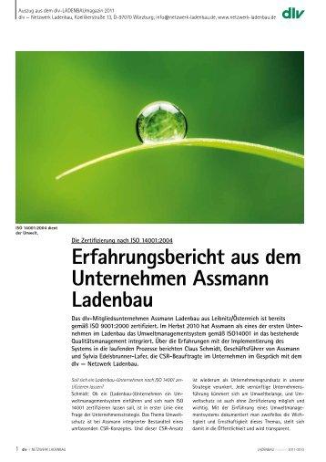 Erfahrungsbericht aus dem Unternehmen Assmann Ladenbau