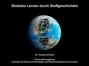 """Globales Lernen durch """"Stoffgeschichten"""" (Claudia Schmidt)"""