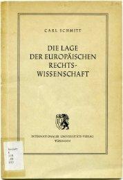 DIE LAGE DER EUROPÄISCHEN RECHTS' WISSENSCHAFT