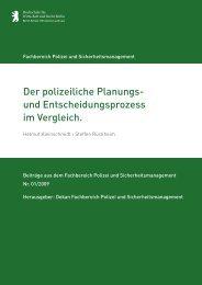 Der polizeiliche Planungs- und Entscheidungsprozess ... - HWR Berlin