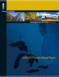 2010/2011 Ontario Annual Report - Insurance Institute of Canada