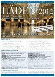 Einladung zum Europäischen Store Design Summit Läden 2012