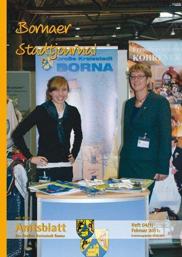 Amtsblatt der Großen Kreisstadt Borna 04/11 - Druckhaus Borna