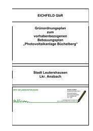 Photovoltaikanlage Büchelberg - Sisby