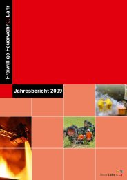 Jahresbericht 2009 der Feuerwehr Stadt Lahr ... - Feuerwehr Lahr