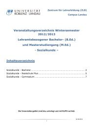 Sozialkunde - Universität Koblenz · Landau