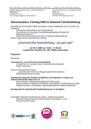 Dokumentation: Fachtag 2009 im Netzwerk Familienbildung ...