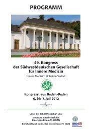 Rückblick Hauptprogramm 2012 - Südwestdeutsche Gesellschaft für ...