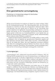 Eine geometrische Lernumgebung - Didaktik der Mathematik ...