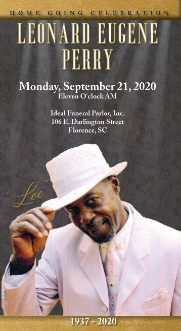 Leonard Perry Funeral Program