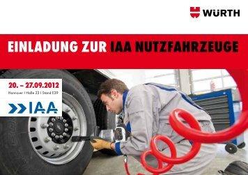 eINlAduNg zur IAA NutzfAhrzeuge 20. - Würth