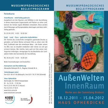 Download Museumspädagogisches ... - Kulturkreis Unna