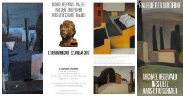galerie der moderne michael hegewald ines lietz hans-otto schmidt