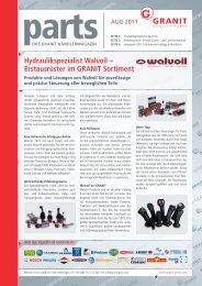 Hydraulikspezialist Walvoil – Erstausrüster im GRANIT Sortiment