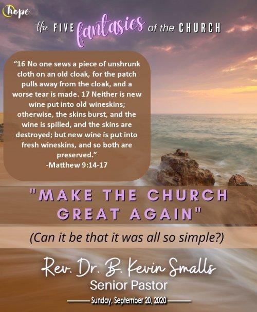 September 20, 2020 Bulletin - Sixteenth Sunday After Pentecost