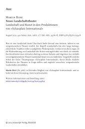 Martin Bieri Neues Landschaftstheater Landschaft ... - transcript Verlag