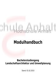 Modulhandbuch Bachelorstudiengang Landschaftsarchitektur und ...