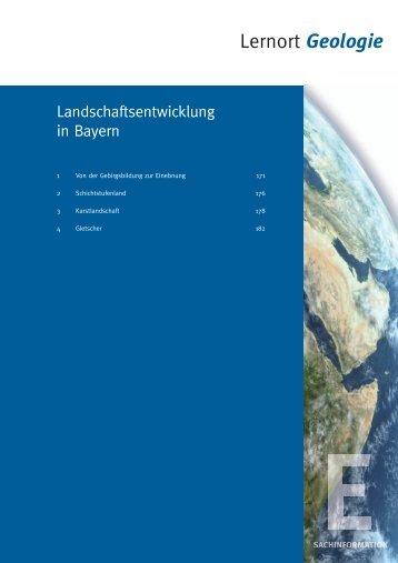 Landschaftsentwicklung in Bayern - Bayerisches Staatsministerium ...