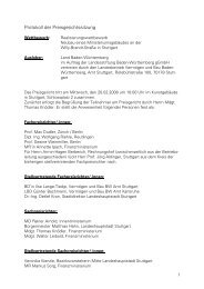 Protokoll der Preisgerichtssitzung - Competitionline