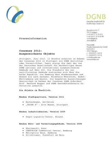 Pressetexte - DGNB