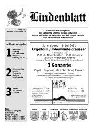 3 Konzerte - Gemeinde Kaulsdorf(Saale)