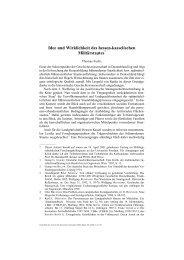 Idee und Wirklichkeit des hessen-kasselischen Militärstaates