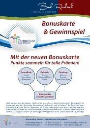 Bonuskarte & Gewinnspiel Mit der neuen Bonuskarte Punkte ...