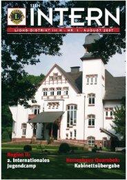 111N Intern Ausgabe August 2007 - zur Mitgliederzeitschrift LIONS ...