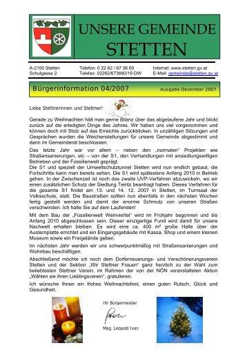 HEIZKOSTENZUSCHUSS - Gemeinde Stetten