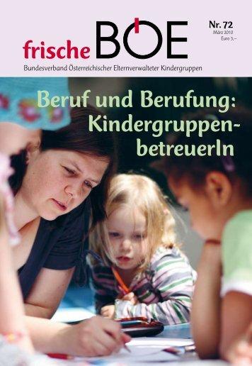 Beruf und Berufung: Kindergruppen- betreuerIn - Bundesverband ...