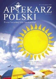 Aptekarz Polski nr 6 (16) 2007 cz. 1 - Naczelna Izba Aptekarska