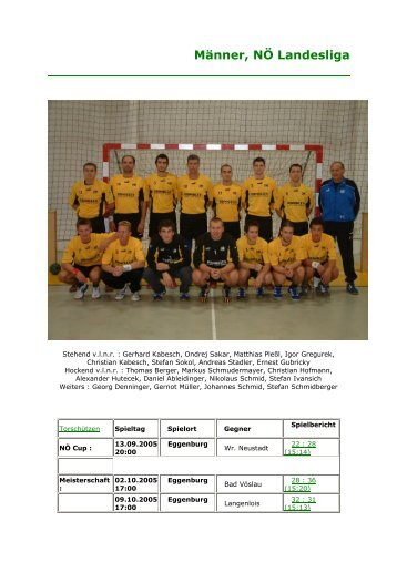 Männer, NÖ Landesliga - UHC Eggenburg