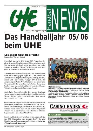beim UHE Das Handballjahr 05/06 - hoststar